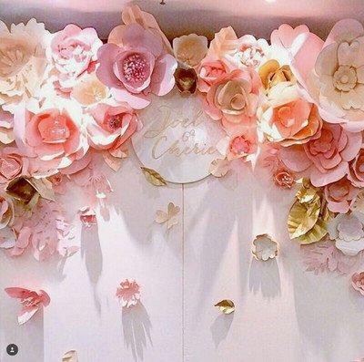 Большие цветы фото из бумаги